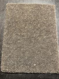 Staal vloerkleed handgeknoopt in handgesponnen wol