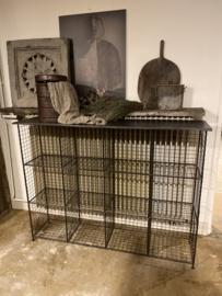 Draadijzeren kast kastje meubel schoenenrek draadijzer groot metaal draadmand wandmeubel schap rek wandkast industrieel vintage urban grijs