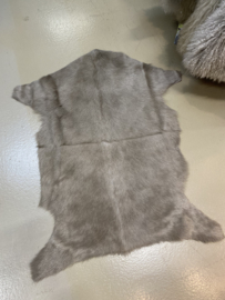 Nieuwe geitenhuid vacht beige grijs
