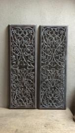 Stoer landelijk oud houten wandpaneel ash grey grijs grijze 90 x 30 cm luik wandornament wanddecoratie hout panelen luiken