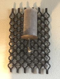 Metalen Wandkandelaar kandelaar wandornament hek hekje landelijk stoer urban industrieel assorti