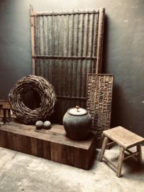 Stoere oud vergrijsd houten landelijke salontafel sidetable tvmeubel televisie Bassano landelijk