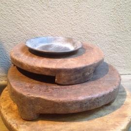Zinken bakje zeepbakje Schaaltje rond zink grijs schaal landelijk schaal bordje 18,5 cm