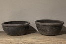 Grijze stenen schaal pot bak grijs stoer landelijk steen poederachtig landelijk stoer antraciet