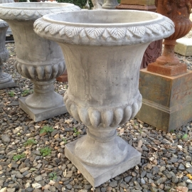 Hoog model tuinvaas pot beton bloempot tuinornament grijs vaas bak landelijk
