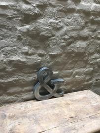 Zinken letter & klein zink landelijk stoer industrieel metalen industriële vintage metaal