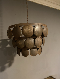 Stoere ijzeren Lampekap 40 cm bruin/roest