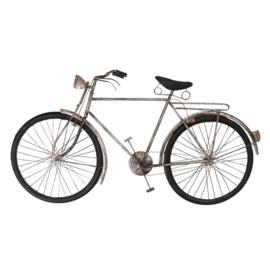 Metalen grijze wanddecoratie fiets grijs zwart muurdecoratie 3D jongenskamer reliëf metaal industrieel vintage