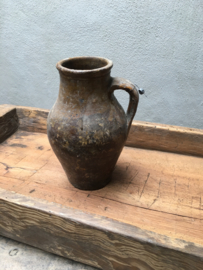 Oud stenen kruikje landelijk stoer pot kruik