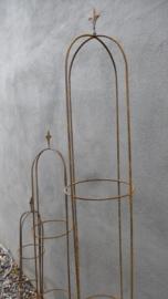 Smeedijzeren ornament obelisk 200 cm klimplant tuinornament tuinprikker steker klimplant klimrek