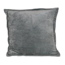 Kussen velvet grijsblauw 50 x 50 cm