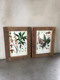 Oud doorleefd vergrijsd houten Fotolijst fotolijstje sloophout A4 lijstje landelijk vintage doorleefd hout