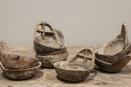 Oude metalen theelichtjes theelichtje kandelaar lepel landelijk stoer industrieel