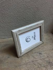 Stoere witte wit vintage houten fotolijstjes fotolijst fotolijstje lijst lijstje landelijk