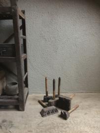 stempeltjes Oud houten stempel met handvat textielstempel india batik stempeltje vintage industrieel