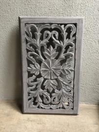 Stoer landelijk oud houten wandpaneel 50 x 30 cm bruin taupe grijs wandornament wanddecoratie hout panelen luiken