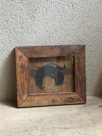 Stoer sloophouten lijst lijstje fotolijstjes Fotolijstje oud hout landelijk vintage industrieel oude houten fotolijst A6