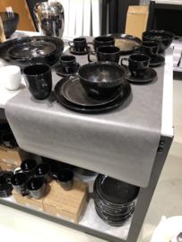 Grijze tafelloper tafelkleed placemat stoer grijs