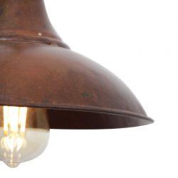 Gave bruine koper koperen metalen hanglamp stallamp lamp metaal landelijk industrieel vintage bruin koper