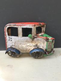 Blikken auto jeep kinderkamer gerecycled metaal blik  wanddecoratie