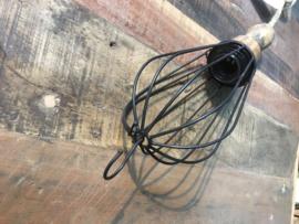 Draadijzeren hanglamp vintage looplamp model landelijk stoffen sober stoer brocant jute touw kabel nieuw