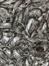 Prachtig groot Wandpaneel wandornament paneel luik zwart black army legergroen grey olive khakie legergroen olijf wanddecoratie landelijk shabby taupe grijs 120 x 60 cm