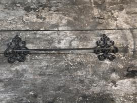 Gietijzeren metalen stang muurstang handdoekenrek landelijk industrieel vintage