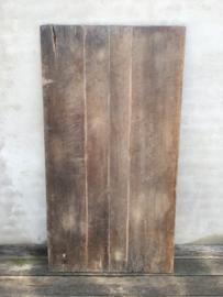 Origineel oud vergrijsd houten tafelblad 160 x 85 x 4 cm werkblad paneel hout schot scherm wand landelijk sober oud stoer doorleefd geleefd