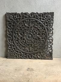 Stoer Wandpaneel landelijk wandpanelen ornament bruin grijsbruin