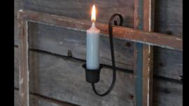 Smeedijzeren hangkandelaar glashaak kandelaar om te hangen dinerkaars voor in windlicht te hangen landelijk industrieel