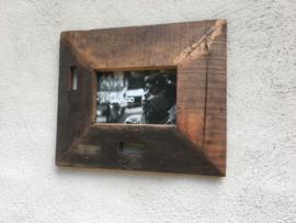 Sloophouten fotolijst lijstje grof ruw hout landelijke stijl