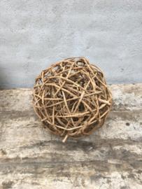 Naturel houten takken bol bollen bal 30 cm ballen decoratiebol landelijk
