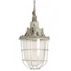 Industriele hanglamp fabriekslamp landelijk zink grijs stoer industrieel lamp