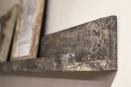 Lange houten wandplank plank wandconsole fotoplank landelijk vergrijsd hout stoer 140 cm