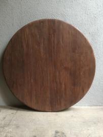 rond teakhouten tafelblad doorsnede 130 cm