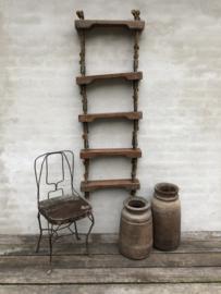 Originele oude scheepsladder touwladder trap trapje landelijk industrieel vintage