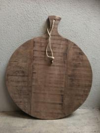 Grote ronde houten broodplank snijplank kaasplank landelijke stijl rond 38 cm plank landelijk stoer hout