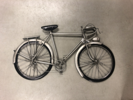 Metalen wanddecoratie fiets bike muurdecoratie 3D jongenskamer reliëf metaal industrieel vintage