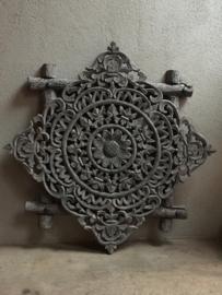 Grijs houten wandpaneel wandornament wandpanelen 60 x 60 cm landelijk ash grey paneel lijst taupe mat mooi
