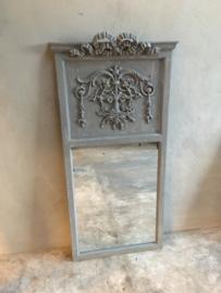 Prachtige grijze spiegel kuifspiegel landelijk stoer 135 x 65 cm
