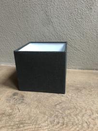Vierkante lampenkap grijs antraciet 20 x 20 cm kap kapje