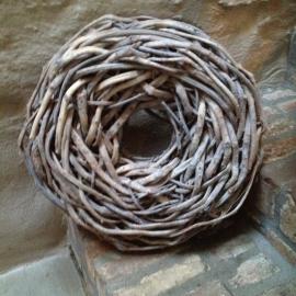 Vergrijsde grove grijze krans thick rough 50 cm landelijk vergrijsd grof stoer