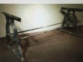 Smeedijzeren tafelonderstel ijzer metaal metalen tafel poot voet industrieel tuintafel 170 x 79 cm 73 cm hoog