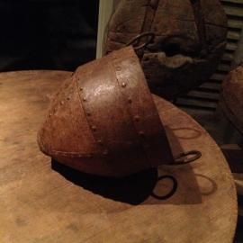 Oude metalen ketel pot landelijk bak industrieel Brocant vintage stoer metaal roestbruin