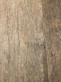 Vergrijsd houten Sidetable wandmeubel ladekast met onderplank landelijk industrieel