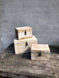 Leuke sloophouten kistjes kistje kist groot vintage sloophout