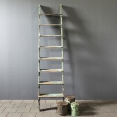 Stoere stevige oud houten trap ladder landelijk industrieel stoer 260 x 59 cm