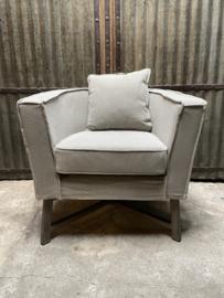 Prachtige stoffen linnen fauteuil fauteuils landelijk sober linnen