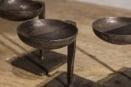 Gietijzeren kandelaar landelijk S smal klein industrieel vintage urban theelicht stompkaars kaars metaal metalen gietijzer bruin