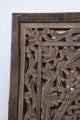 Groot houten wandpaneel grey ash grey grijs antreciet teakhouten rand 120 cm landelijk stoer shabby chique wanddecoratie paneel